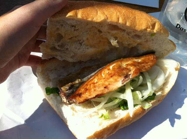 Fish sandwich, Istanbul, only $3!