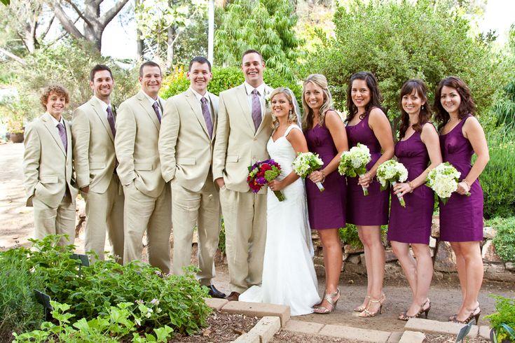 lilac bridesmaid and groom - 735×490