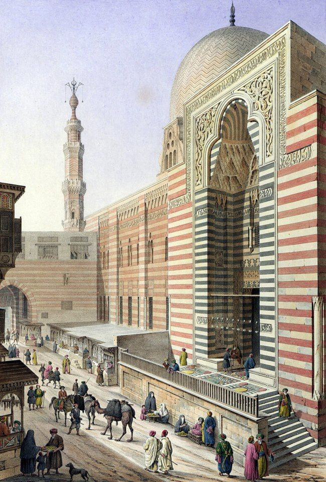 Complex of Sultan al-Muayyad Shaykh 1818 By Pascal Xavier Coste - French, 1787-1879