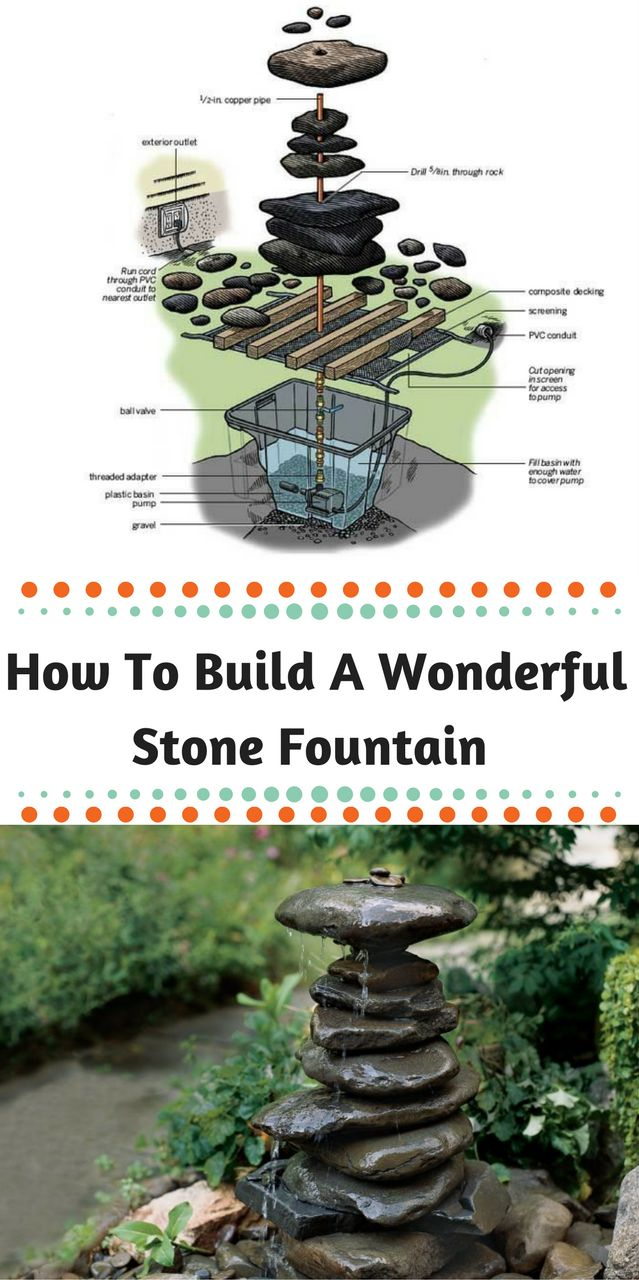 How to build a garden fountain - How To Build A Wonderful Stone Fountain For Your Garden