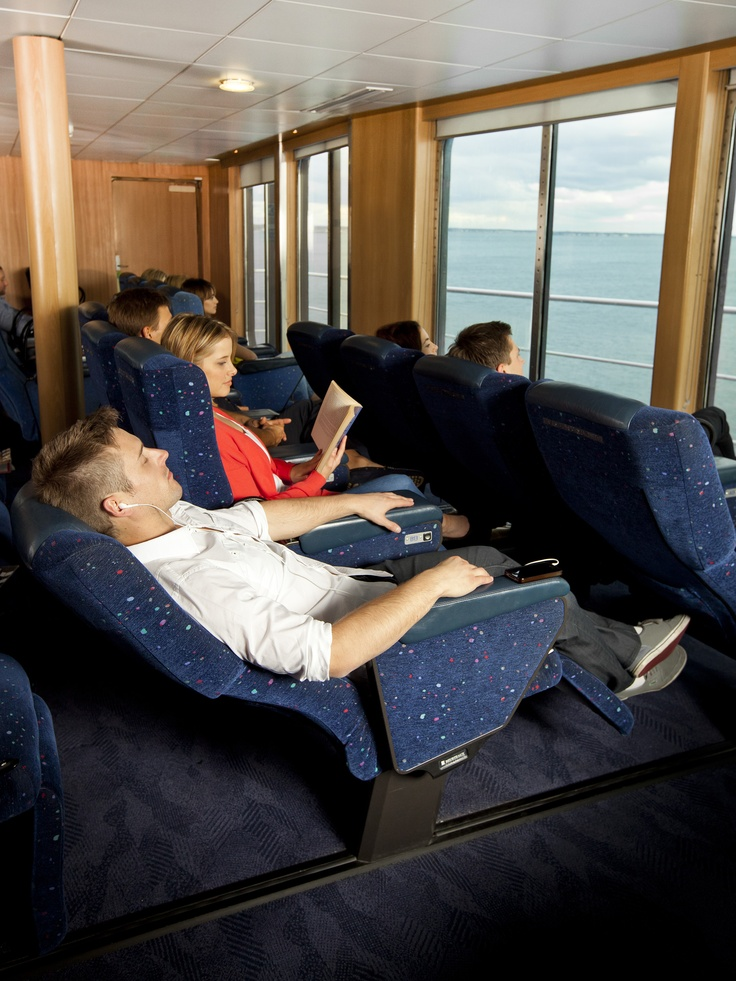 Sit back, relax and enjoy the journey on board Spirit of Tasmania. Ocean Recliners are great value offering low cost, yet comfortable, reclining chairs.