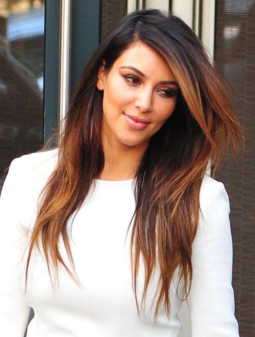 Kim Kardashian Balayage Ombre Hair Pinterest Kim