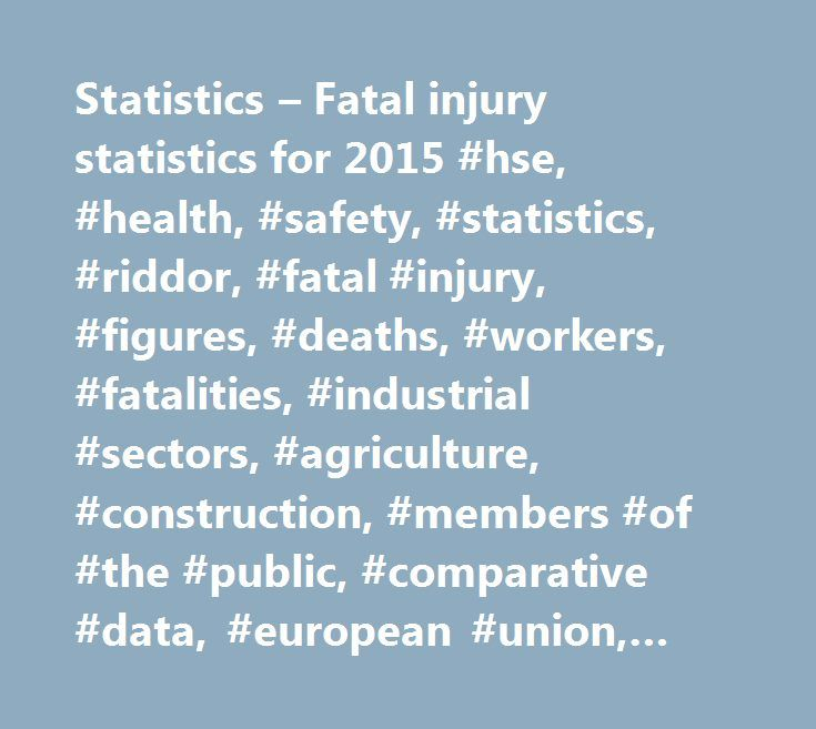 Statistics – Fatal injury statistics for 2015 #hse, #health, #safety, #statistics, #riddor, #fatal #injury, #figures, #deaths, #workers, #fatalities, #industrial #sectors, #agriculture, #construction, #members #of #the #public, #comparative #data, #european #union, #eu, #manufacturing, #services http://mobile.nef2.com/statistics-fatal-injury-statistics-for-2015-hse-health-safety-statistics-riddor-fatal-injury-figures-deaths-workers-fatalities-industrial-sectors-agriculture-construction/  #…