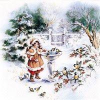2265 Servilleta decorada Navidad