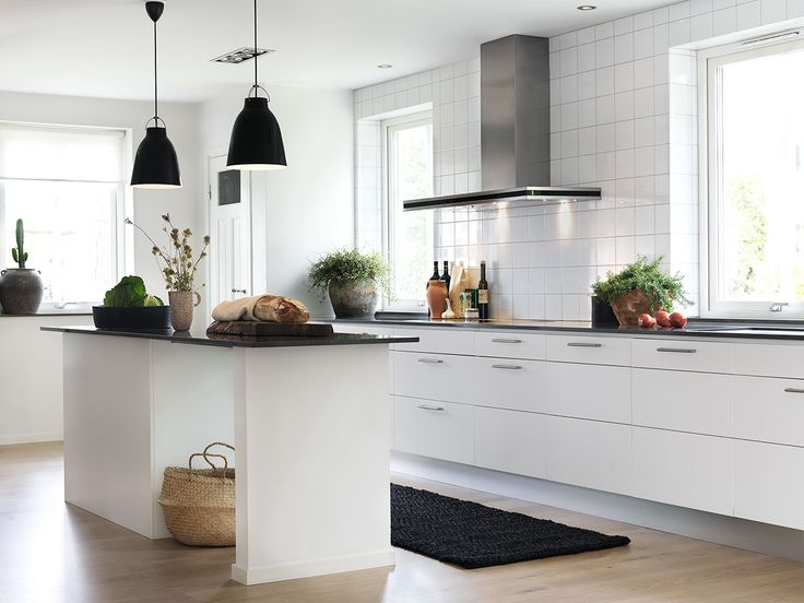 Köksinspiration - Vitt modernt kök