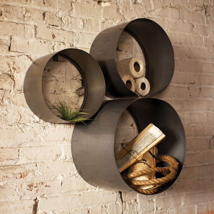 Cylinder Floating Shelf - Set of 3 from Kalalou.  Really features some new items.  Any way to install a glass shelf mid way?