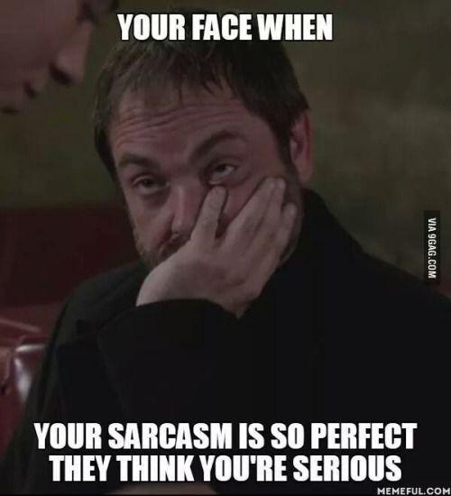 Image result for crowley sarcasm meme