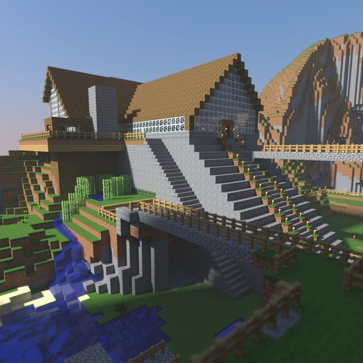 Large glass-walled Minecraft house! Looks waaayyyyyyy better then our minecraft house bahahaha!