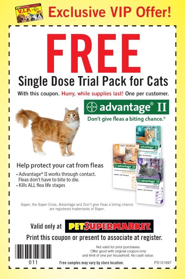 Pinned February 20th: Advantage flea dosage for cats free at #Pet Supermarket #coupon via The #Coupons App