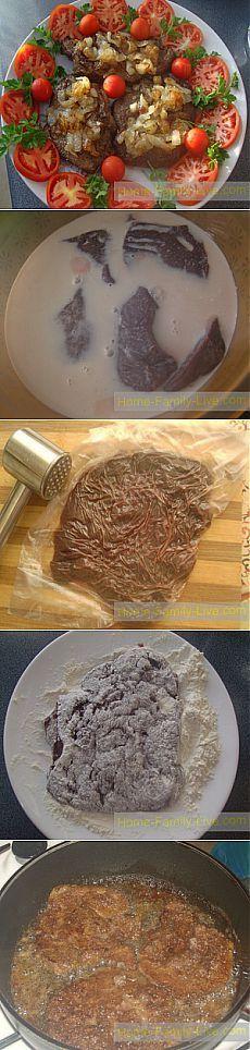 Отбивные из печени - Кулинарные рецепты