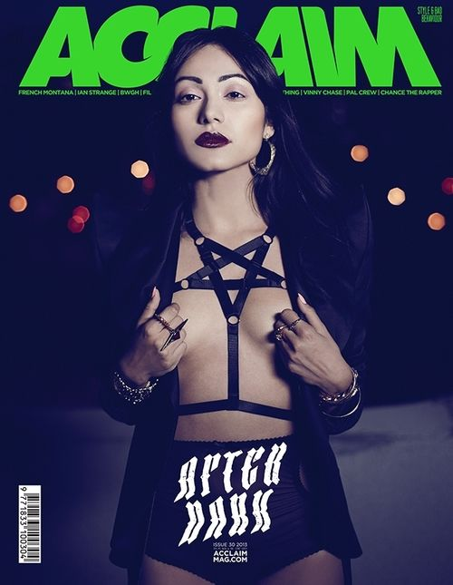 Pentagram Harness on the cover of Acclaim Magazine