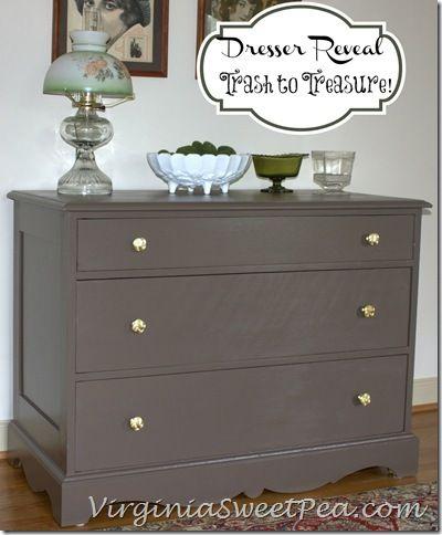 Trash to Treasure Dresser Reveal!