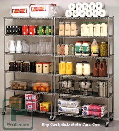 Despensas de cozinhas lindas!!! veja 10 dicas de organização ...