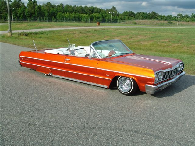 64 Impala Convertible -low rider-- I don't care who you are, the '64 Impala is a beautiful car!