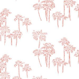 pink baby girl bedding-palm tree crib sheet pink baby