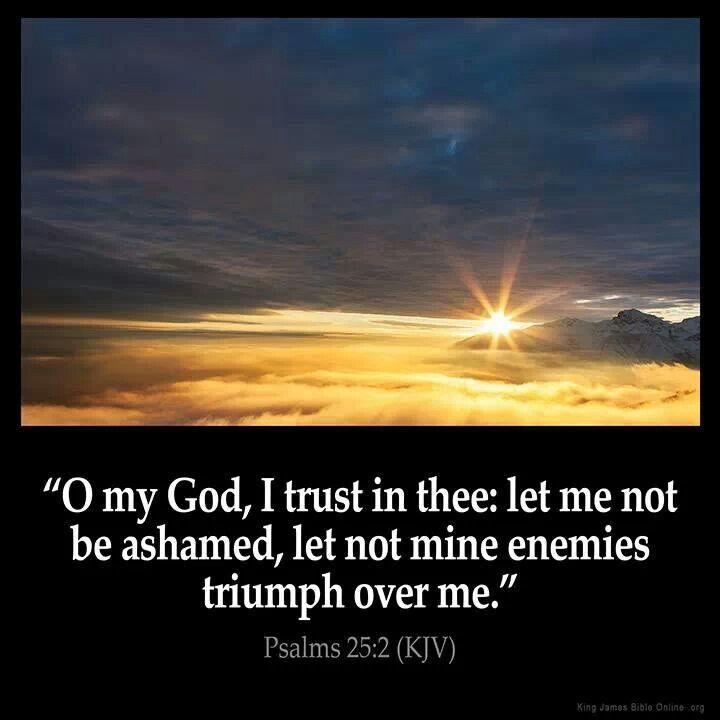Psalms 25:2 (KJV)