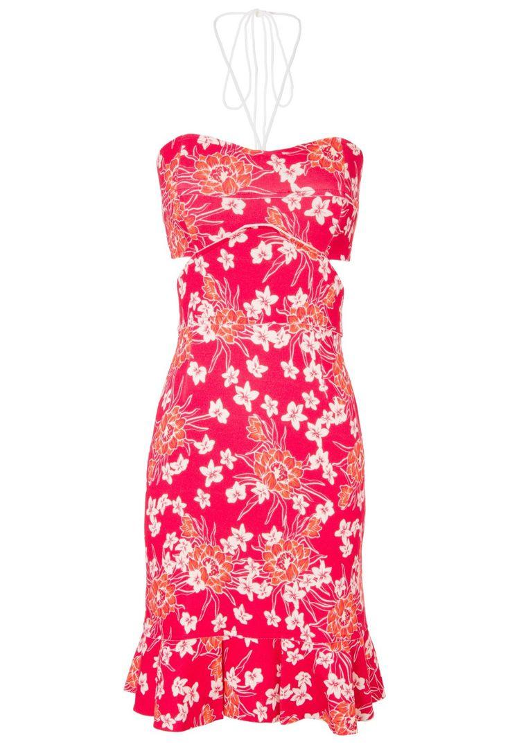 ANIMALE - Vestido floral briza - vermelho - OQVestir
