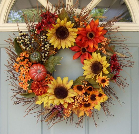 Bright and #bold autumn #wreath.