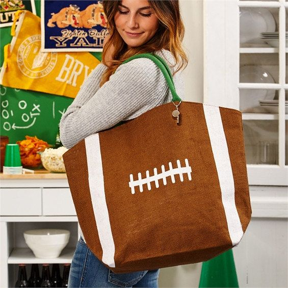 Canvas+Football+Bags+Football+Tote+Bag+Football+by+TurpinKreations