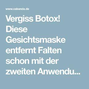 Vergiss Botox! Diese Gesichtsmaske entfernt Falten schon mit der zweiten Anwendung. – Cabanda