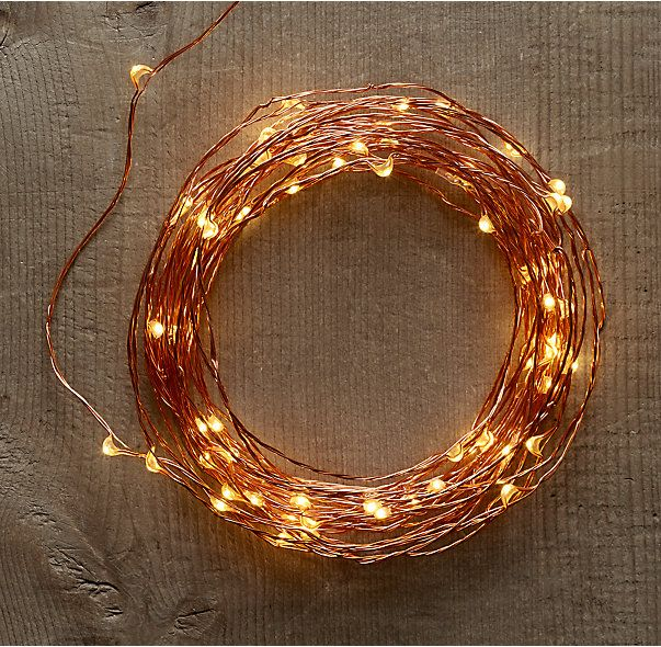 Copper Wire LED Light String #LGLimitlessDesign #Contest - I'm in love with these simple little touches of light - no ugly green or white plastic covered wires, the copper says elegant with a touch of whimsy.