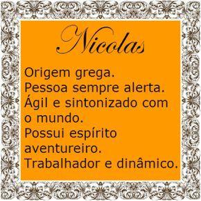 Significado do nome Nicolas | Significado dos Nomes