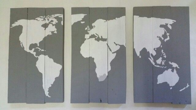 Order your customised pallet sign at www.livelaughlove.co.za World Map pallet wall art