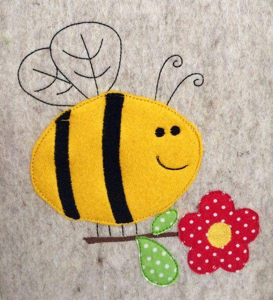 Stickmuster - Hummel Doodle Stickdatei - ein Designerstück von feinliebshop bei DaWanda