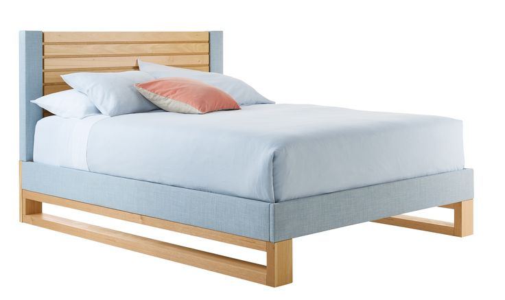 Queen Bed - Asta by Alisa and Lysandra (shown with Powder Fabric)