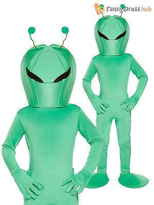 Kids #green #alien sci-fi martian costume book week halloween fancy #dress boys…