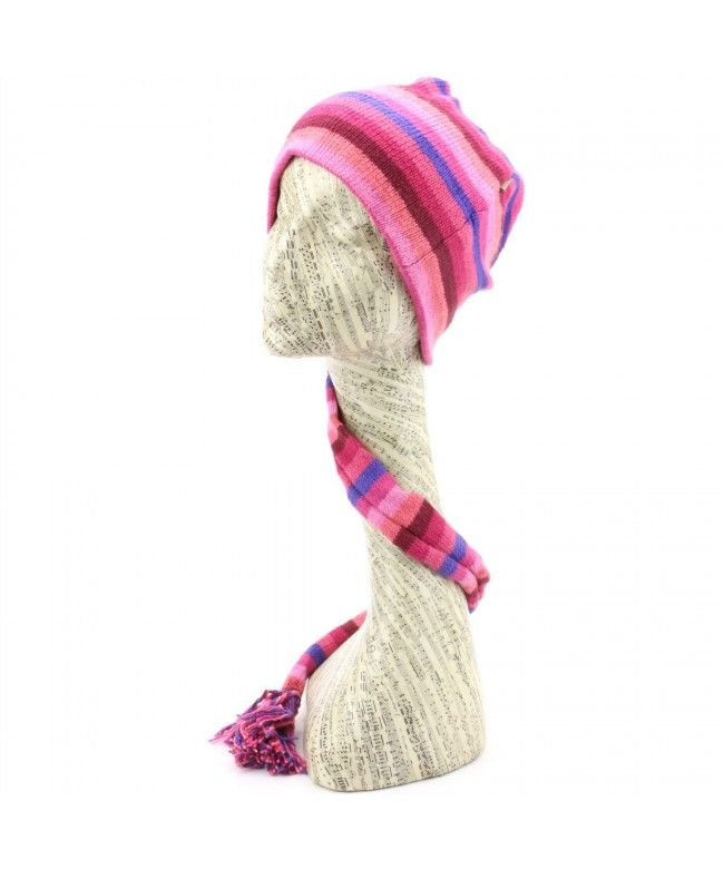 LOUDelephant 'Tinky Winky' cotton knit tail hat - Pink & Purple (One Size)