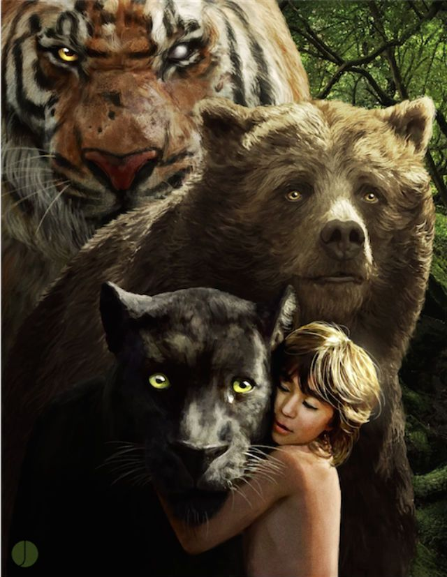 These Jungle Book Posters Are Both Vibrant and Foreboding