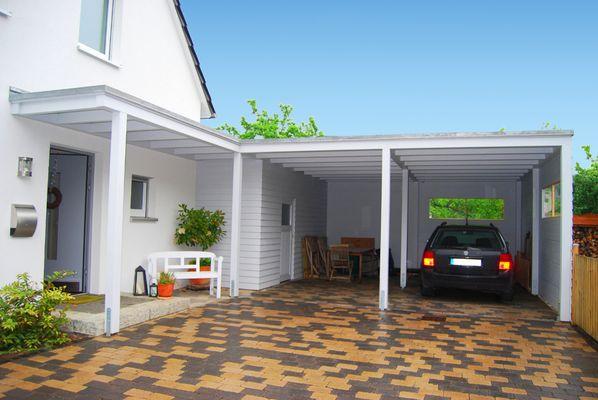 Carports Flachdach Bilder - Carport Preise für Doppelcarport und Alu Terrassendach