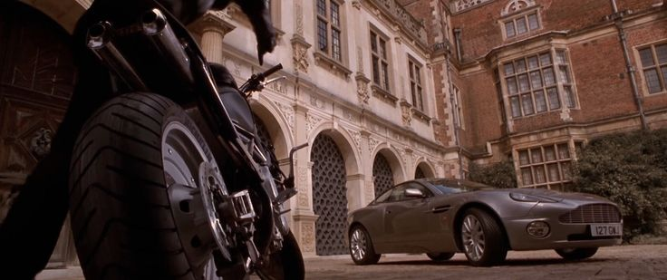 Aston Martin Vanquish (2001) car and Yamaha TRX 850 Street Bike in LARA CROFT: TOMB RAIDER (2001) @astonmartin @yamahacorpus
