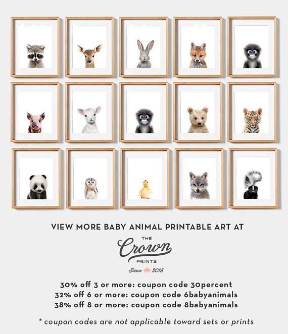 Baby animal print PRINTABLE art Baby deer print Nursery