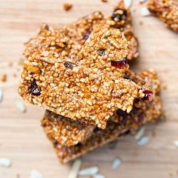 Vegan Gluten-Free Fruit and Nut Granola Bars