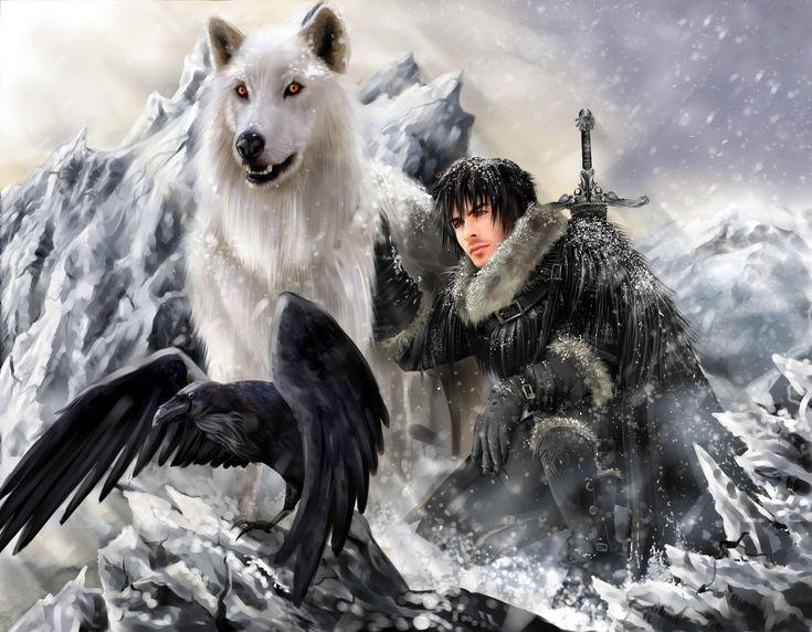 Download wallpaper fantasy, wolf, Warrior, raven free desktop ...