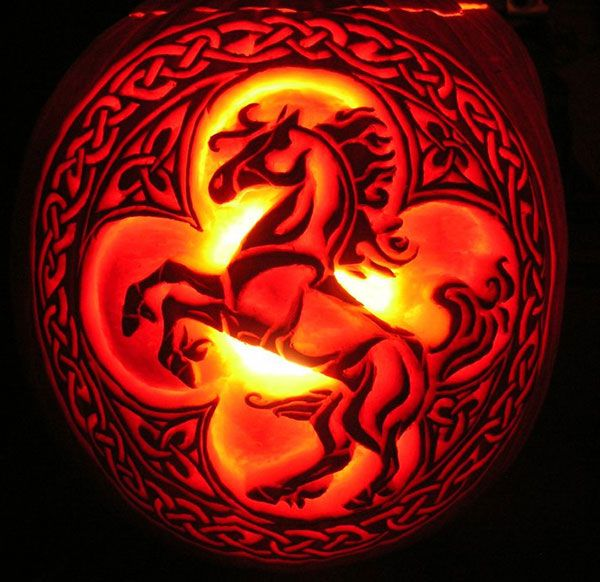 cool horse idea 60 best cool creative scary halloween pumpkin carving ideas - Cool Halloween Designs