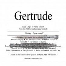 Gertrude name means spear strength | Names, First names ...