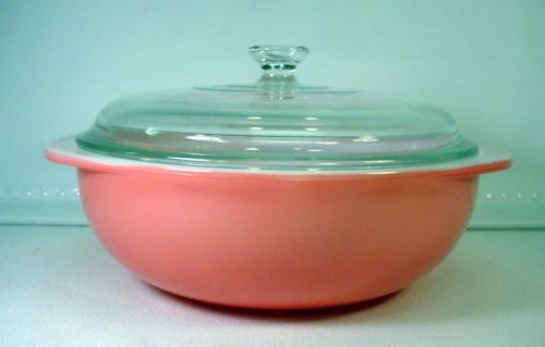 Vintage Pink Flamingo 1950 Pyrex Casserole Dish With Lid 2 Qt Oven Ware