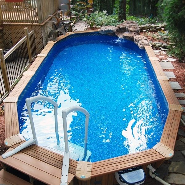 48 best images about semi inground pools on pinterest on for Above ground pool decks jacksonville fl