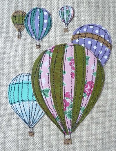 love this patchwork embroidery by Laura Nathan. very simple and very effective