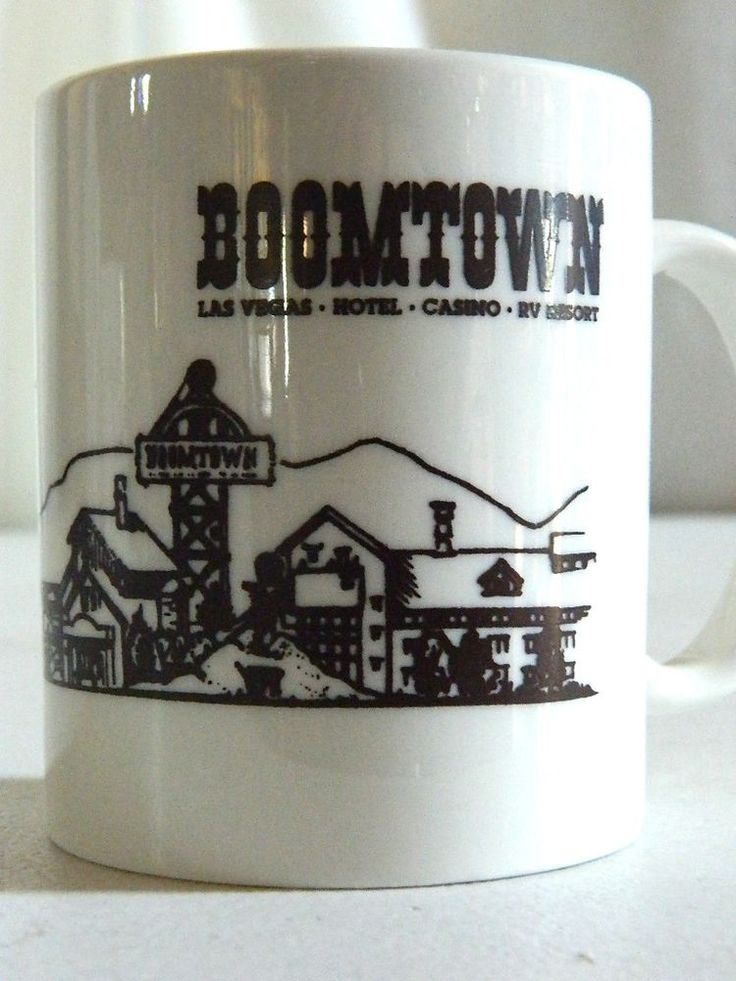 Boomtown Las Vegas Nevada Hotel Casino RV Resort Coffee Mug Cup Vintage