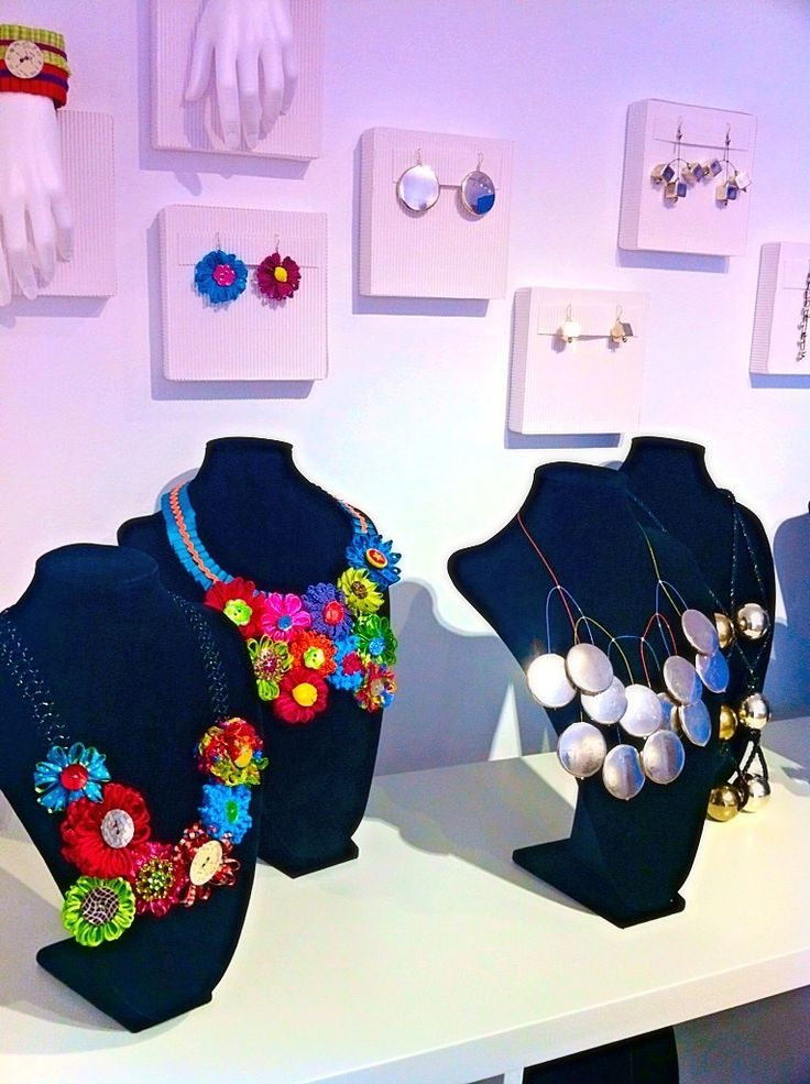 Daphne Valente handmade silk flower and vintage buttons necklace.