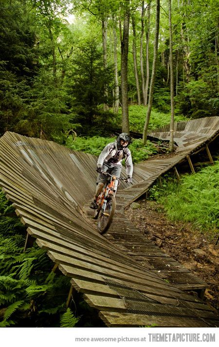 mountain bike on this trail. Freaking awesome this summer it's on the 2 do list with my boys!!