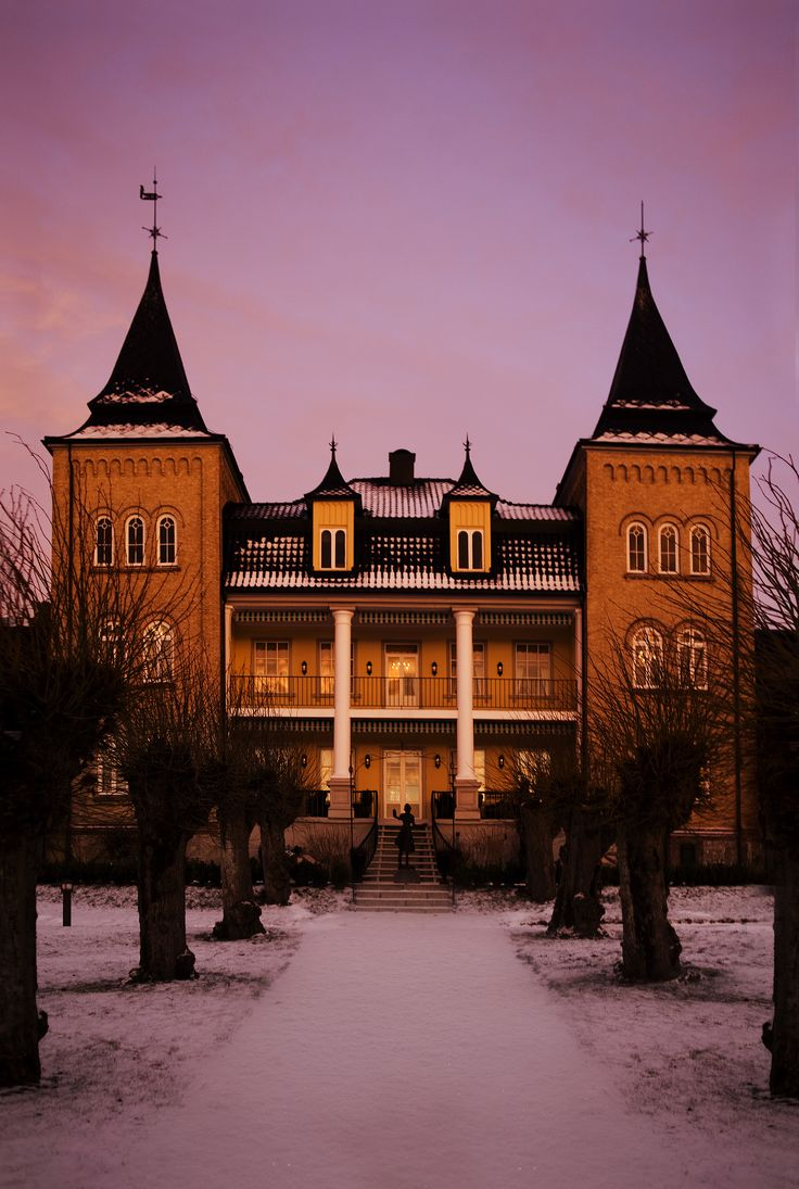 Winter in Hotel Refsnes Gods. Outdoor wedding, wedding ceremony, wedding ideas