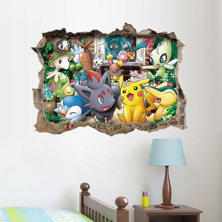 Cheap Sticker For Kids Room, Buy Quality Wall Stickers For Kids Directly  From China Wall Sticker Suppliers: Cartoon Game Pikachu Pokemon Go Wall  Stickers ... Part 77