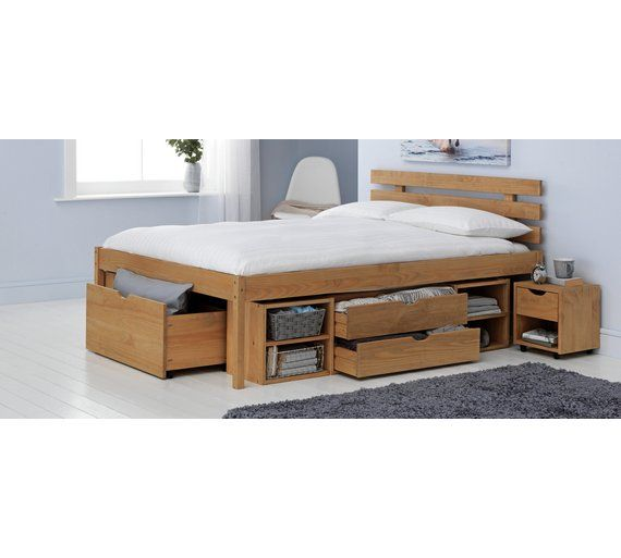 Home Ultimate Storage Ii Double Bed Frame In 2019 Small