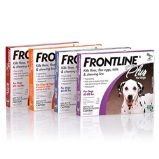 FRONTLINE PLUS has fipronil and (S)-methoprene that kill fleas, deer ticks (which may carry Lyme disease), brown dog ticks, American dog ticks, lone star ticks, flea eggs and larvae, and chewing lice. http://www.allvetmed.com/Frontline-Plus-Dog-p/FrontlinePlusDog.htm
