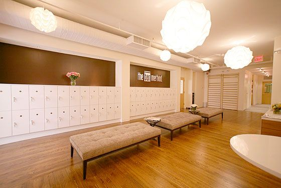 Obviously not all dance studios have dressing rooms this big, but it still would be a cute idea and would work for a smaller space